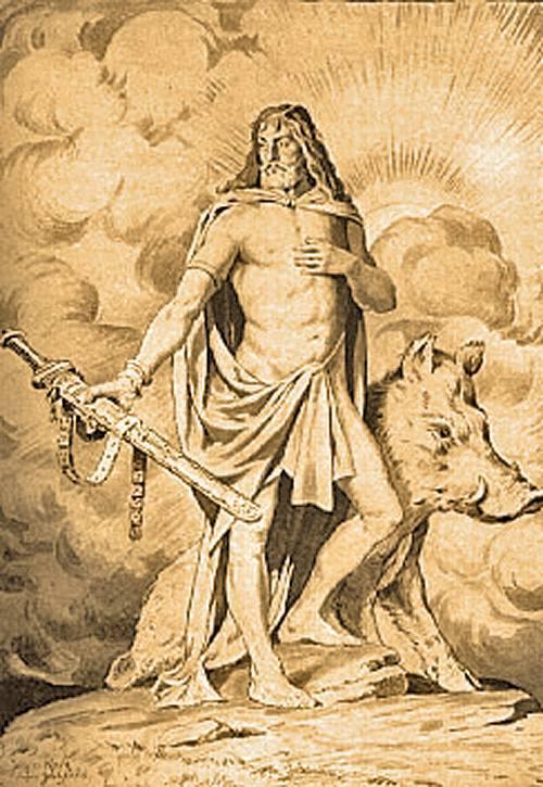 Frey, a Vánok főistene, kinek kocsiját arany vadkan húzta