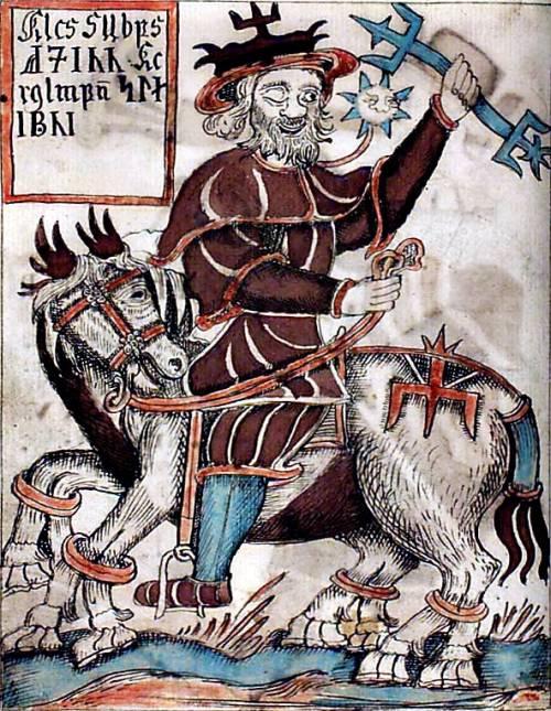 Odin, a félszemű főisten nyolclábú lován