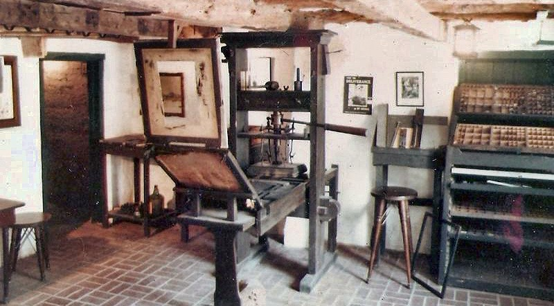 Gutenberg nyomdájának másolata