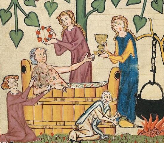 Fürdő - Manesse-kódex