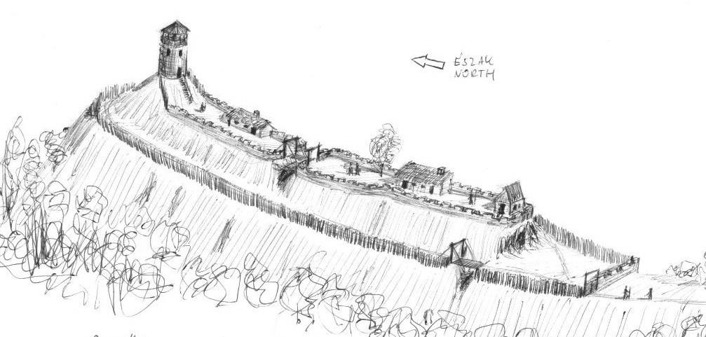 A régi Litva várának rekonstrukciós rajza